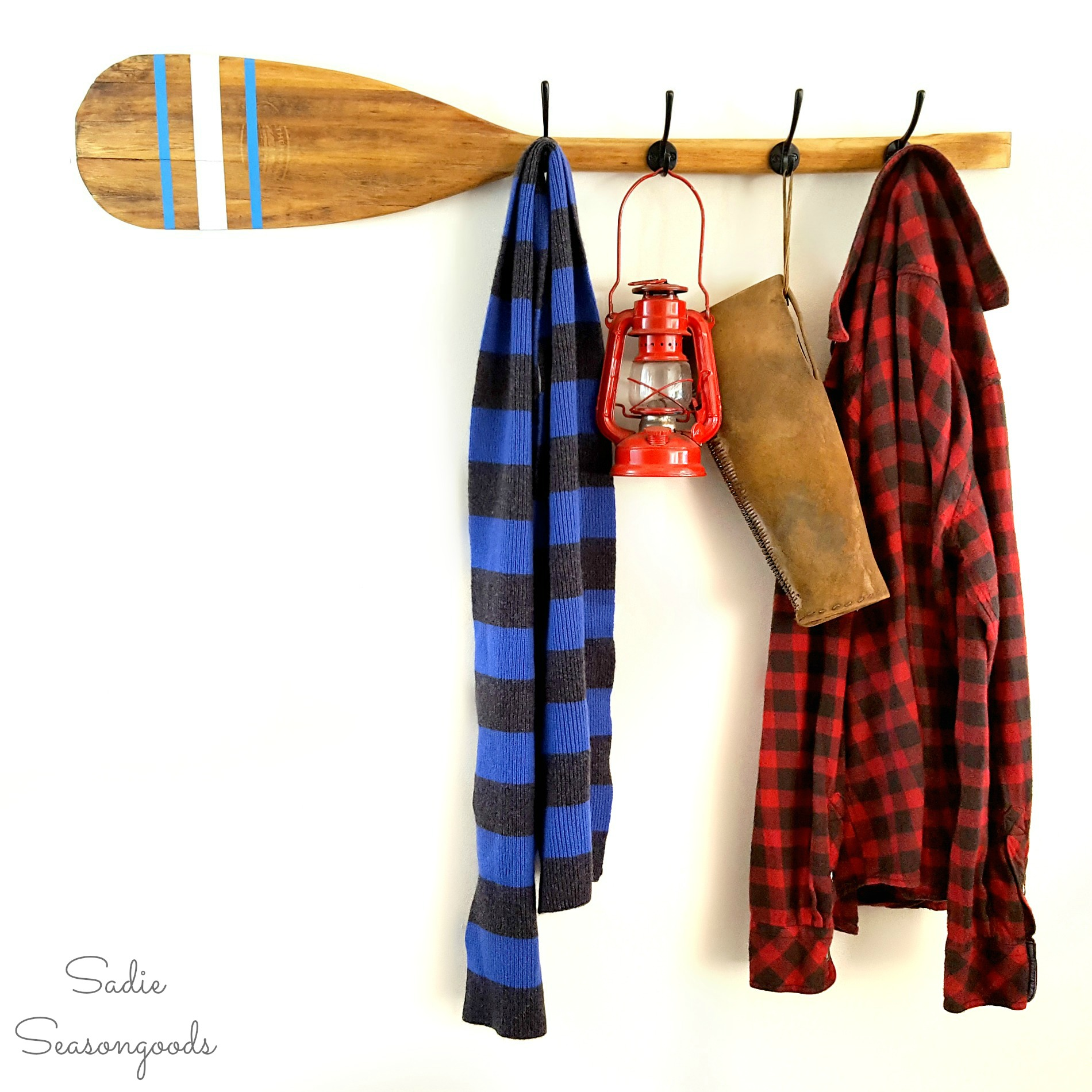 Waste Not Wednesday Week 36 Vintage Oar Coat Rack from Sadie Seasongoods