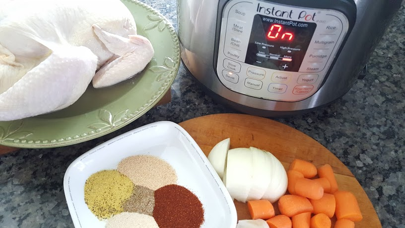 Making Whole30 Roasted Chicken and Broth is so easy in the Instant Pot.