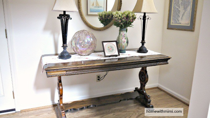 Waste Not Wednesday Week 40 Antique Table Makeover from Home with Mimi