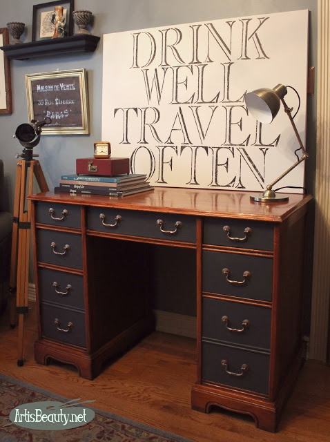 Waste Not Wednesday Week 40 Executive Desk Makeover from Art is Beauty