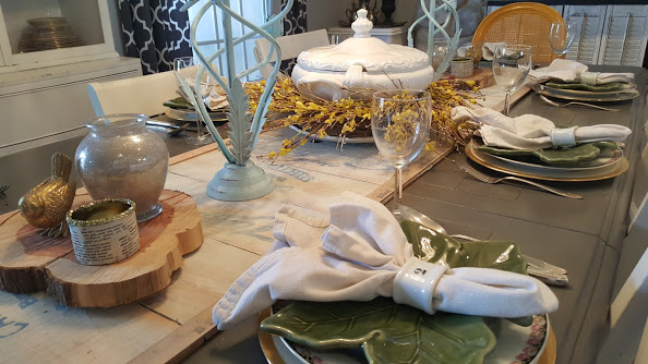 Elegant and simple table setting for spring & Creating a Rustic and Simple Table Setting - My Thrifty House