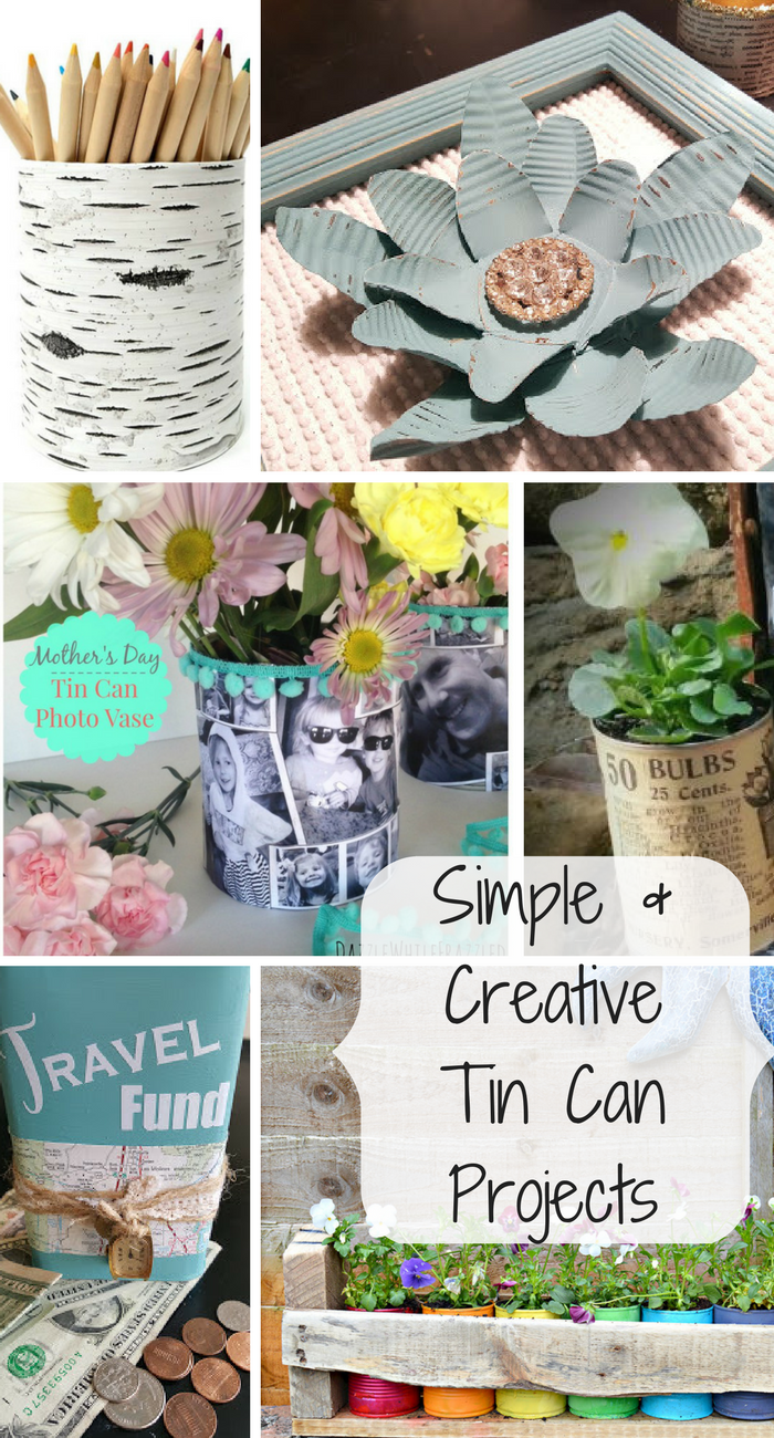 5 simple and creative tin can projects my thrifty house for Tin projects