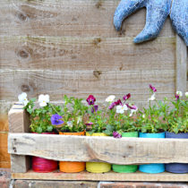 Tin Can Projects Colorful Planters from Pillarbox Blue
