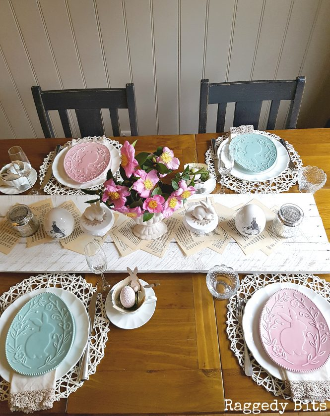 simple table setting from Raggedy Bits
