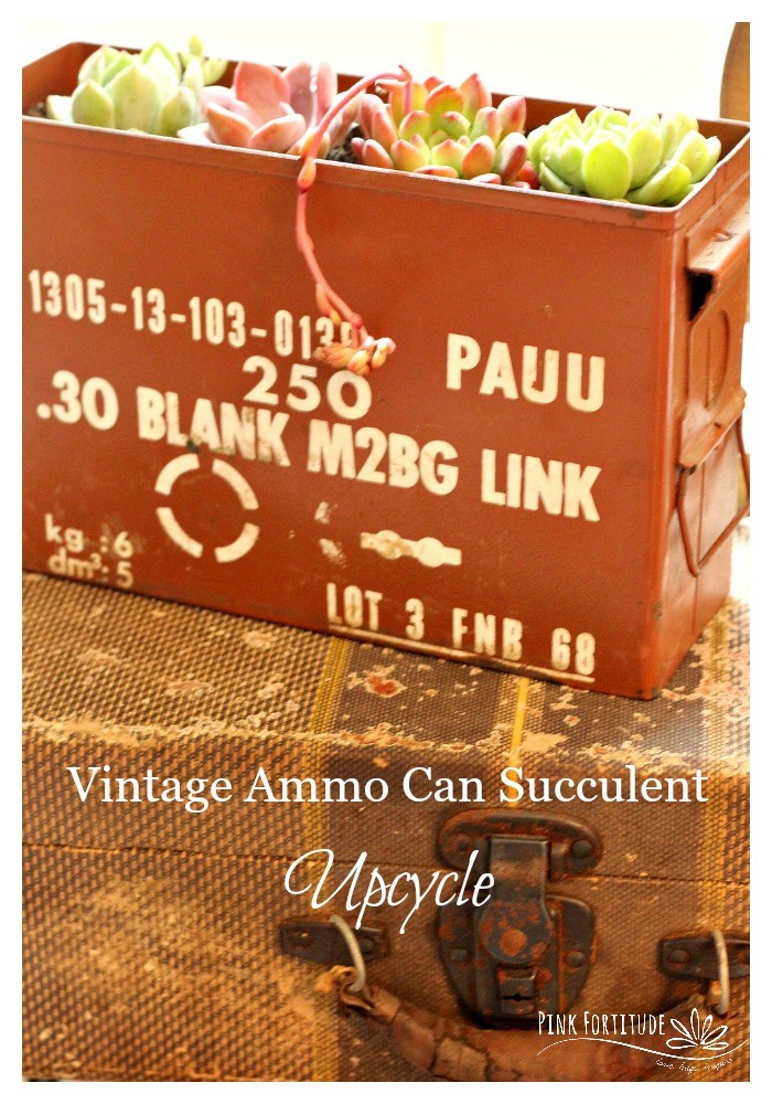 waste not wednesday week 51 vintage ammo can from Pink Fortitude