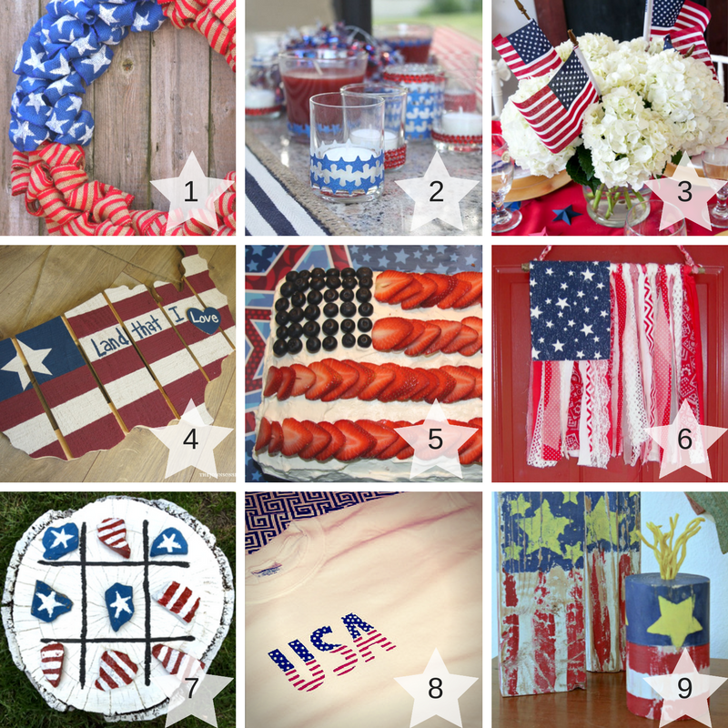 1-9 Patriotic Craft Projects Round Up