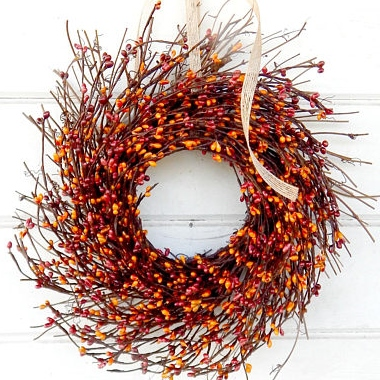 Inexpensive Fall Home Decor - Etsy - Wreath