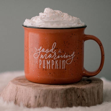 Inexpensive Fall home decor - Etsy - Good Morning Pumpkin Mug
