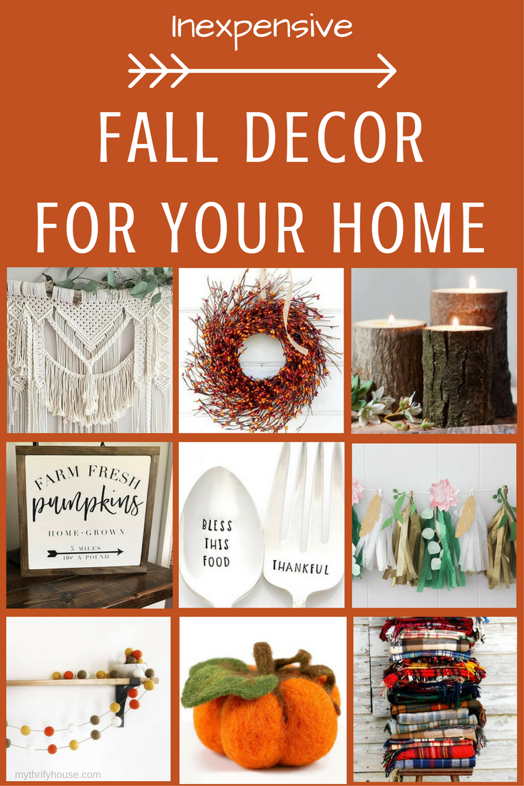 Inexpensive fall decor for your home my thrifty house for Decorating your home for fall
