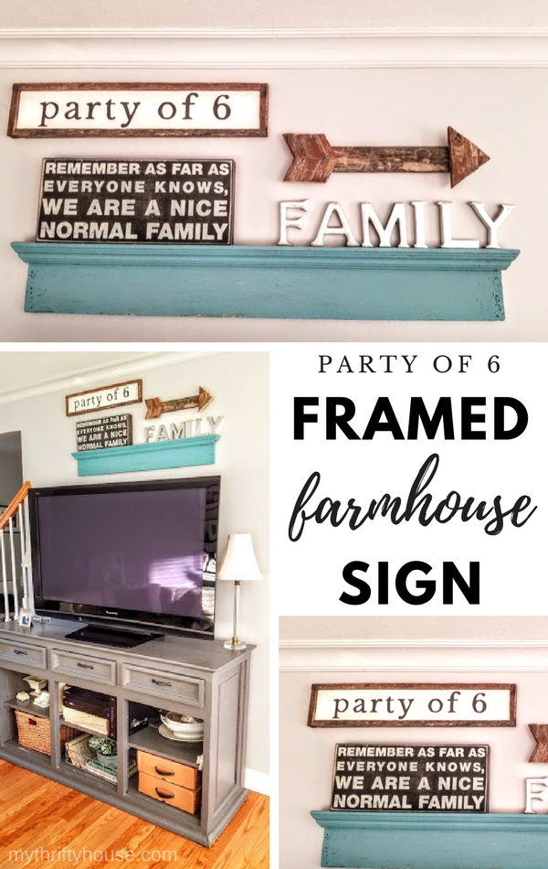 Party of 6 framed farmhouse sign