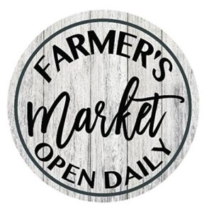 Farmhouse signs Farmer's Market Amazon