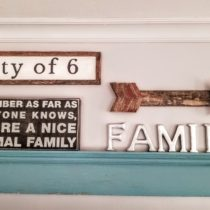 framed farmhouse sign gallery wall