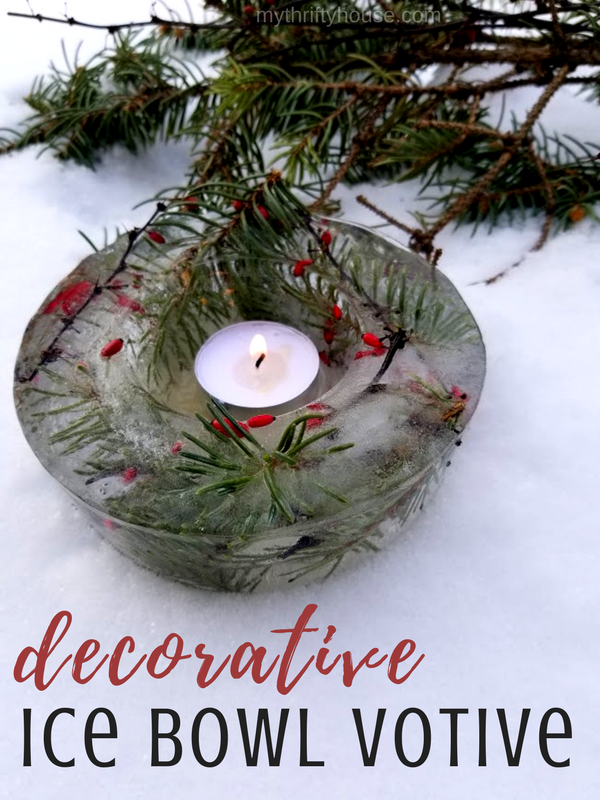 Decorative ice bowl votive