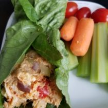 Whole30 Buffalo Chicken Salad Lettuce Wrap