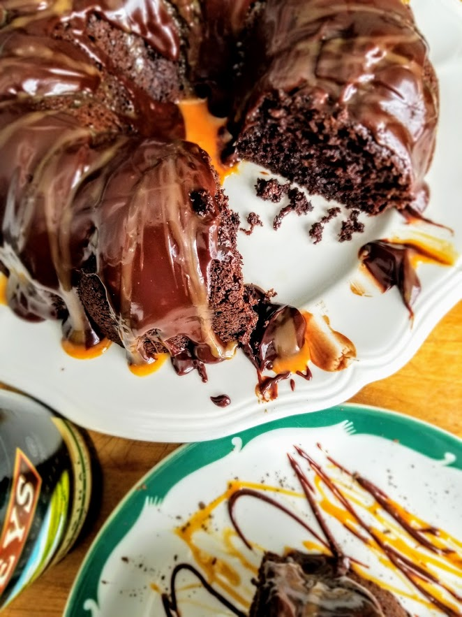 Irish Coffee Chocolate Cake with Boozy Ganach