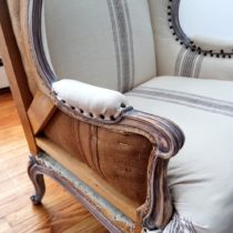 beautiful DIY deconstructed chair