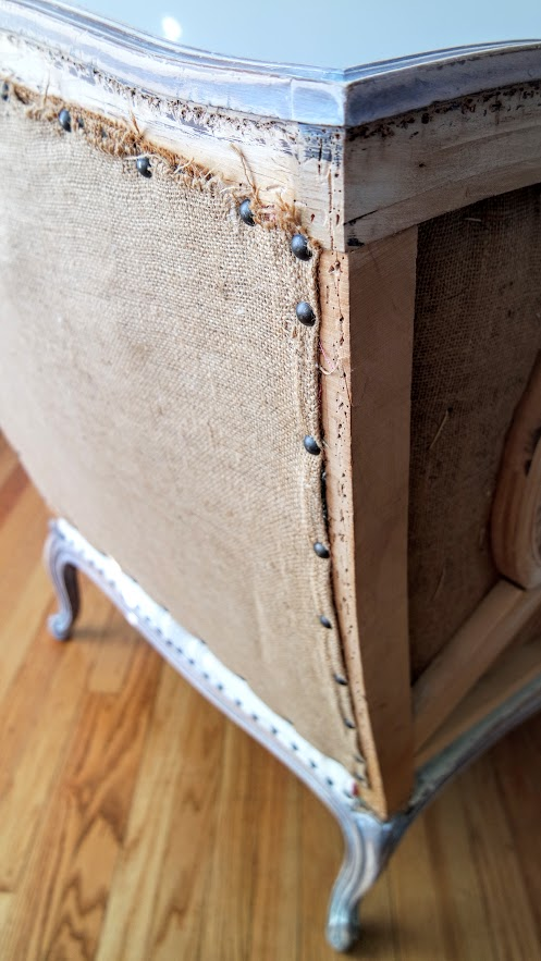 beautiful DIY deconstructed chair back